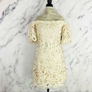 Eva by Eva Franco Emery Lace Dress Beige Sz 6 NWT